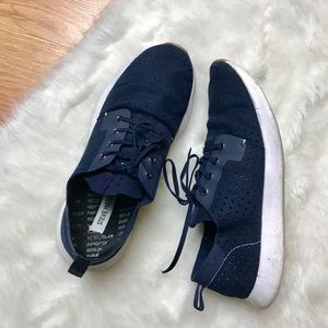 0568b039107 Steve Madden Shoes - Steve Madden  Brixxon  Navy Blue Lace Up Sneakers